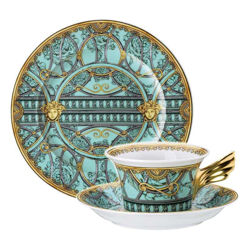 La Scala del Palazzo Verde 2018 Тарелка + чайная пара bd9007c3bdf
